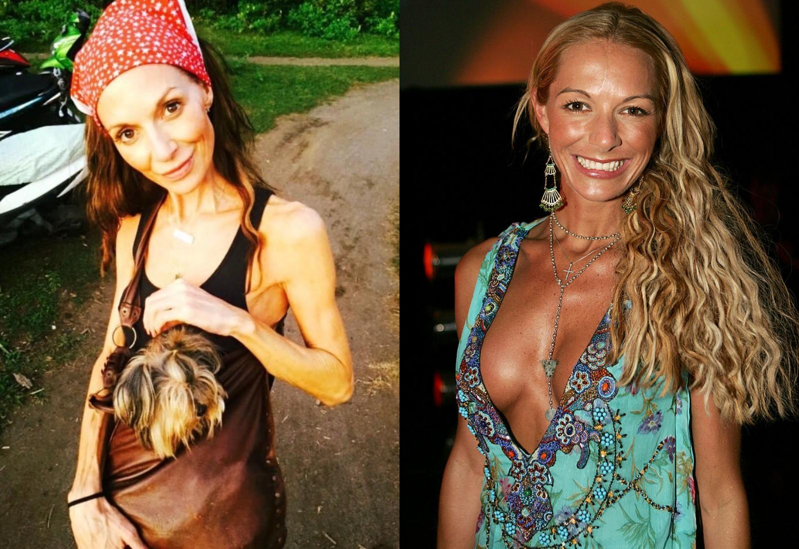 "Слева — последнее фото Кайли Джей в ""Инстаграме"". Справа — Кайли в 2004 году. Фото © Patrick Riviere / Getty Images, Instagram / mscleverkj"