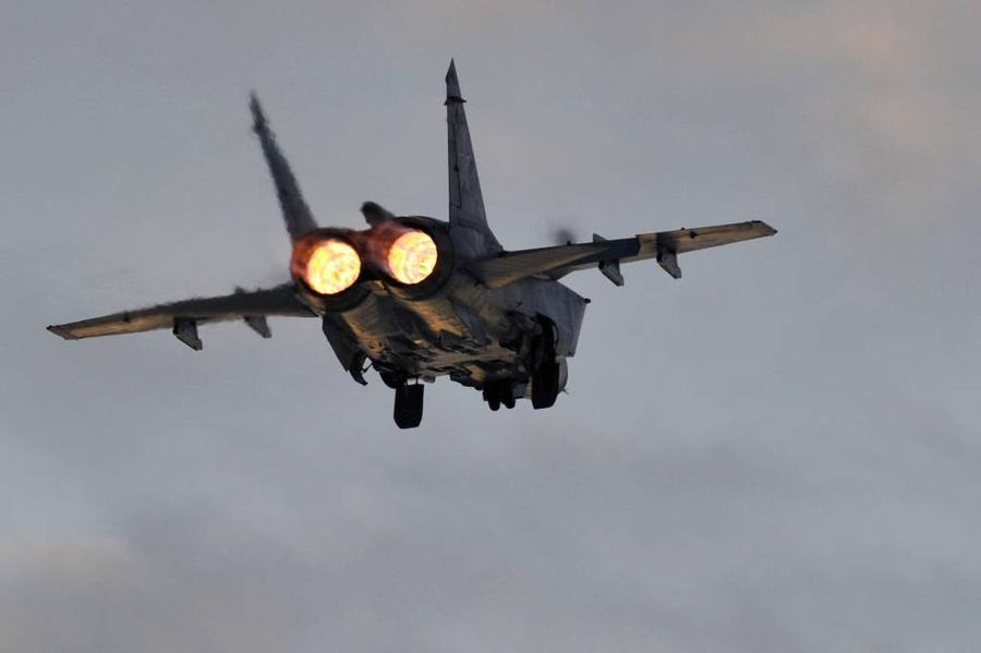 <p>Истребитель-перехватчик МиГ-31. Фото © ТАСС / Федосеев Лев</p>