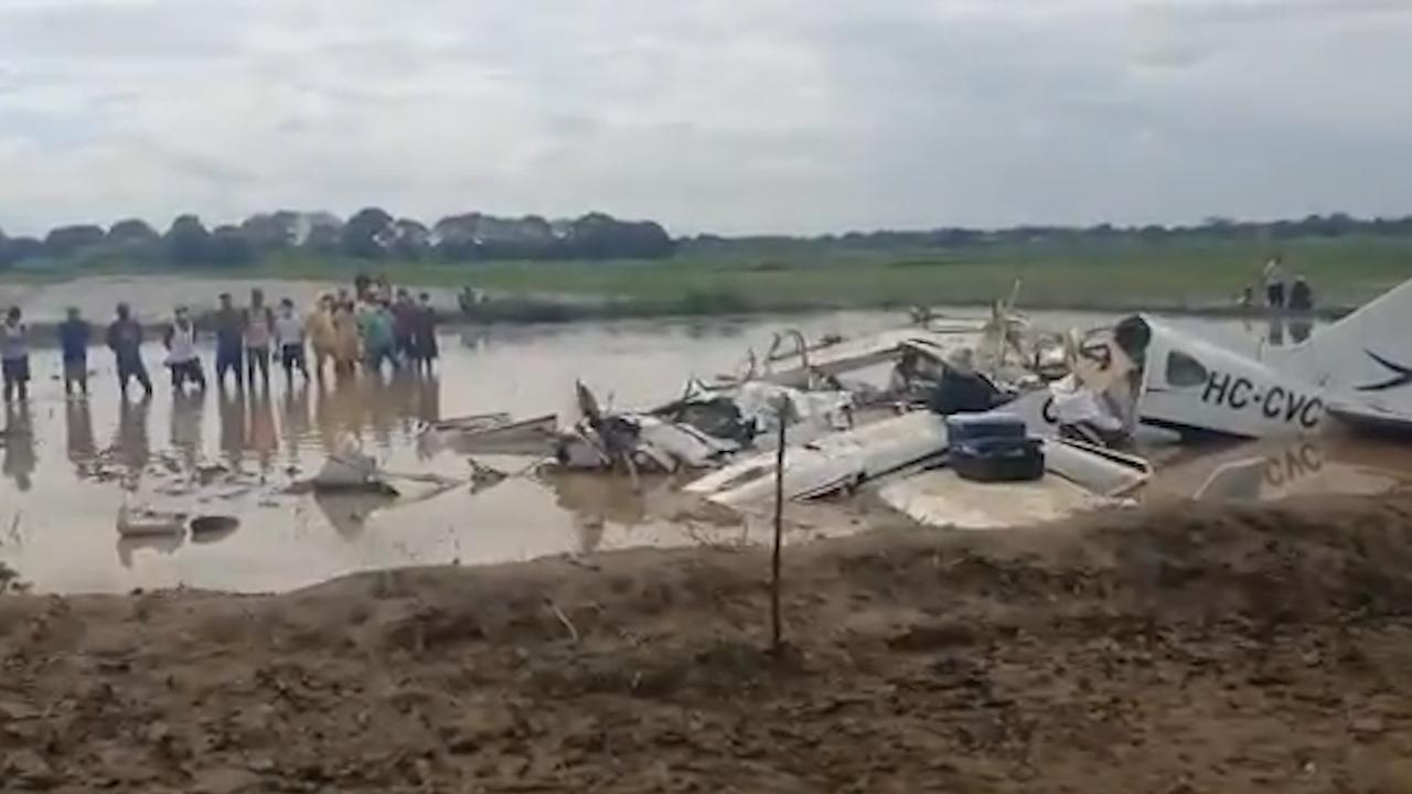 Летели от пациента: в Эквадоре шесть человек погибли при крушении самолёта с врачами  видео