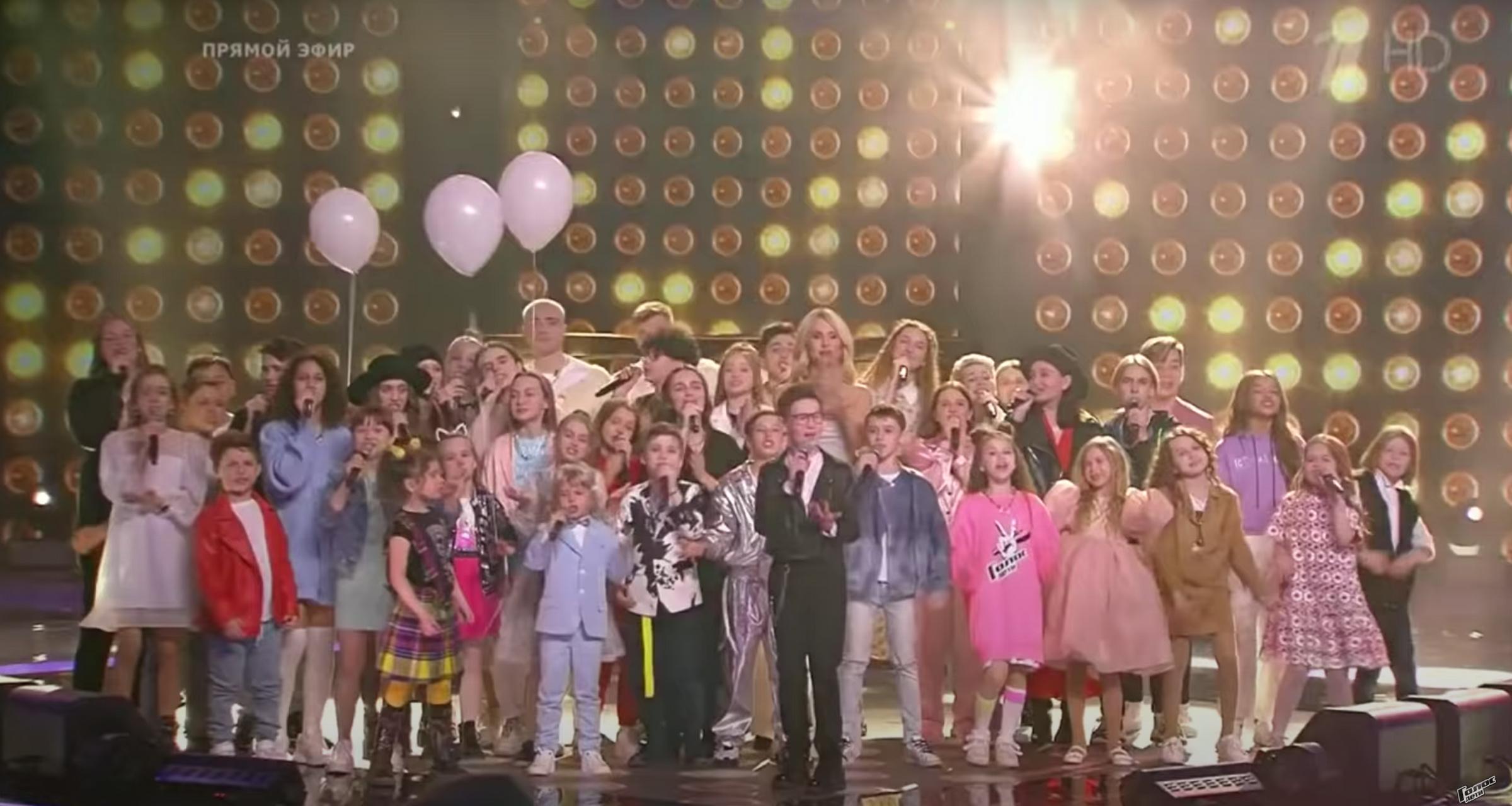 """Кадр из видео YouTube / The Voice Kids Russia / """"Голос. Дети"""""""