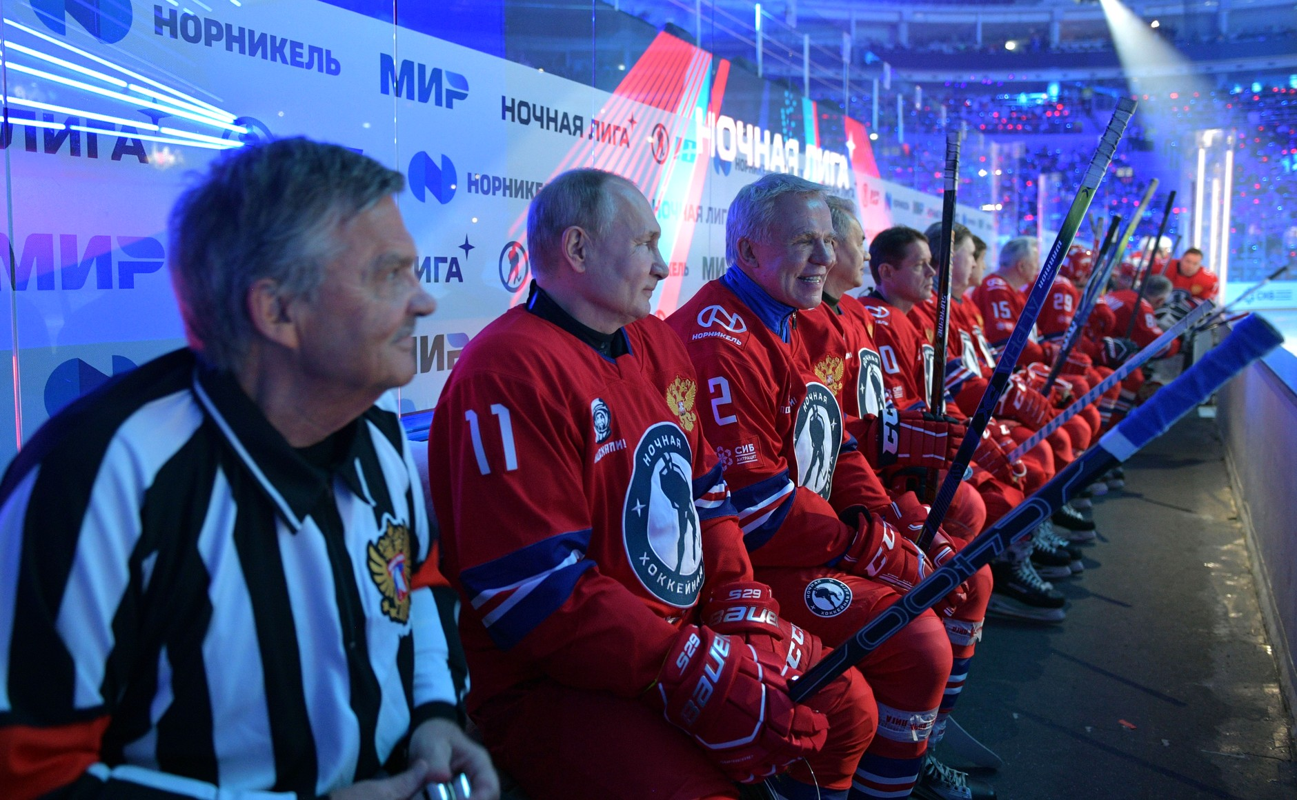 Товарищеский гала-матч Ночной хоккейной лиги в Большом ледовом дворце. Фото © Кremlin.ru