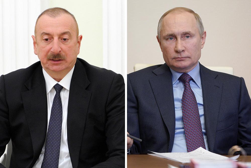 Путин и Алиев в телефонном разговоре поздравили друг друга с Днём Победы