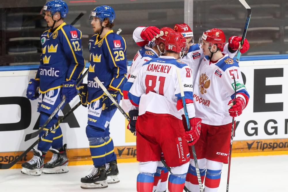 Сборная России обыграла Швецию на старте Чешских хоккейных игр