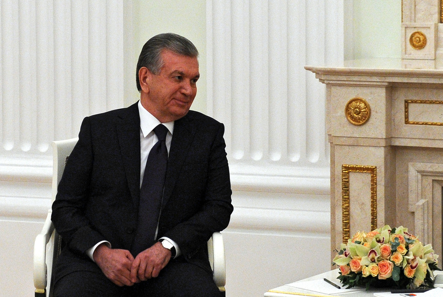<p>Президент Узбекистана Шавкат Мирзиёев. Фото © ТАСС / Михаил Климентьев</p>
