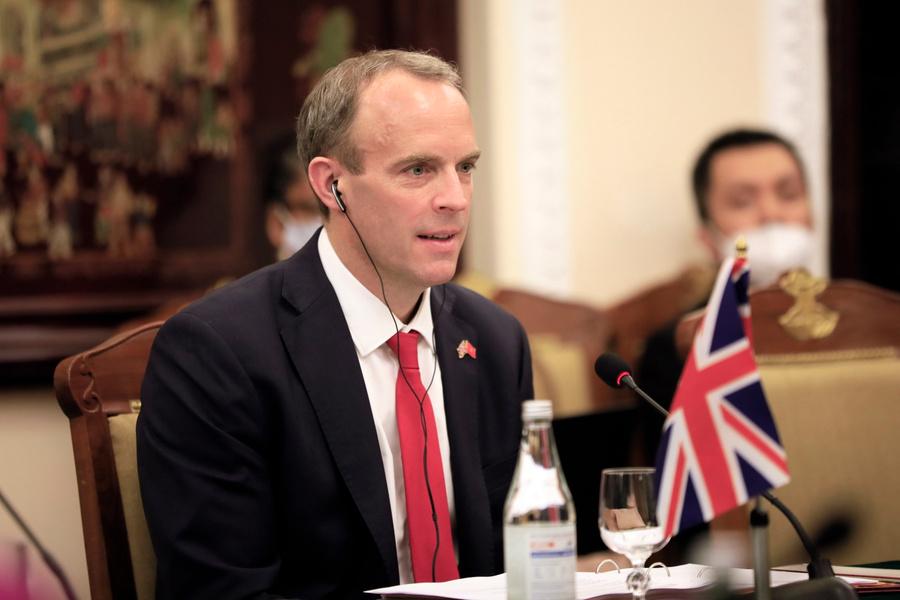 <p>Министр иностранных дел Великобритании Доминик Рааб. Фото © ТАСС / ЕРА</p>