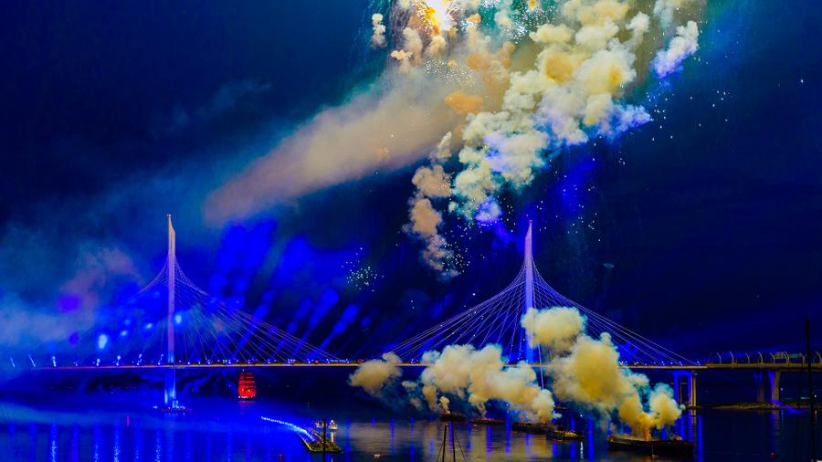"""Праздник выпускников """"Алые паруса – 2020"""". Фото © 5-tv.ru"""