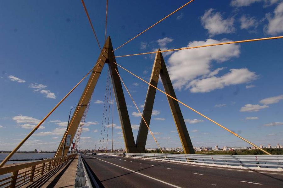 """Вантовый мост """"Миллениум"""" в Казани. Фото © ТАСС / Фёдор Савинцев"""