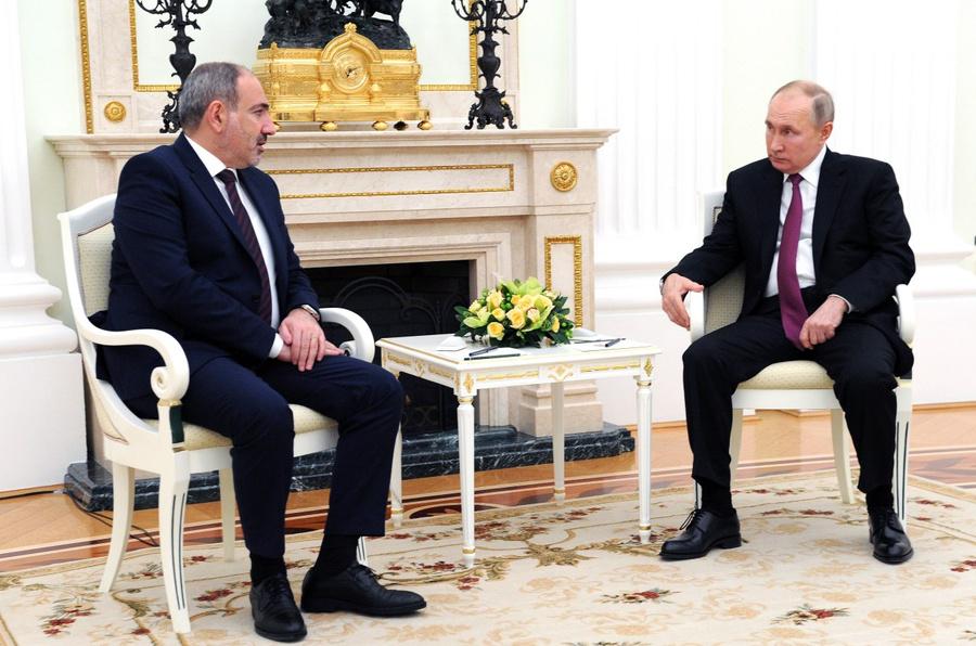 <p>Никол Пашинян и Владимир Путин. Фото © ТАСС / Михаил Климентьев / Пресс-служба Президента РФ</p>