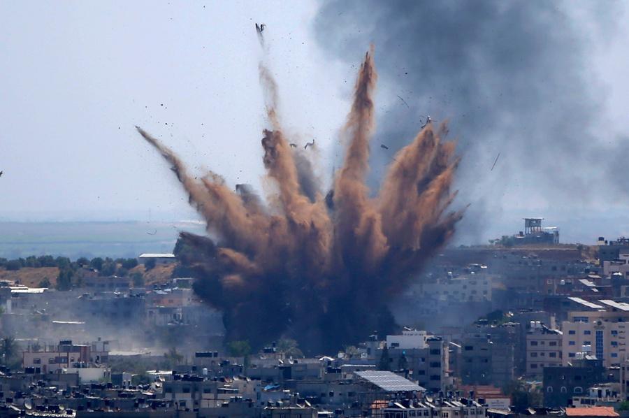 <p>Последствия ракетного обстрела Израилем сектора Газа. Фото © ТАСС / Hatem Moussa</p>