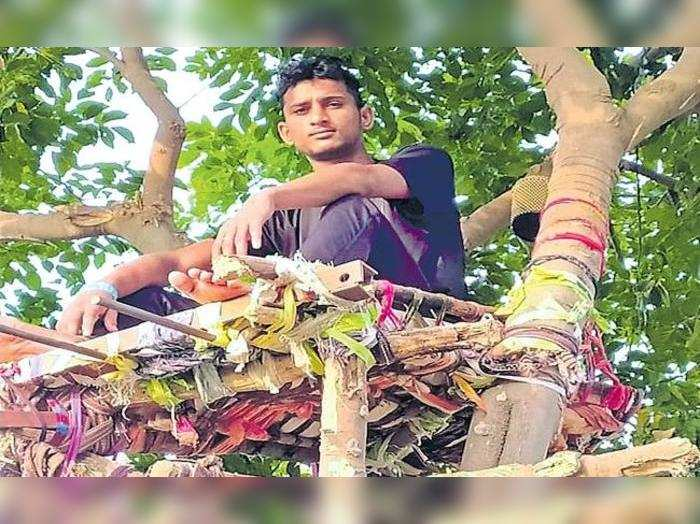 "<p>В Индии студент Рамават Шива Наик провёл 11 дней на дереве из-за коронавируса. Фото © <a href=""https://twitter.com/ians_india/status/1394207128831762436/photo/1"" target=""_blank"" rel=""noopener noreferrer"">IANS Tweets</a></p>"
