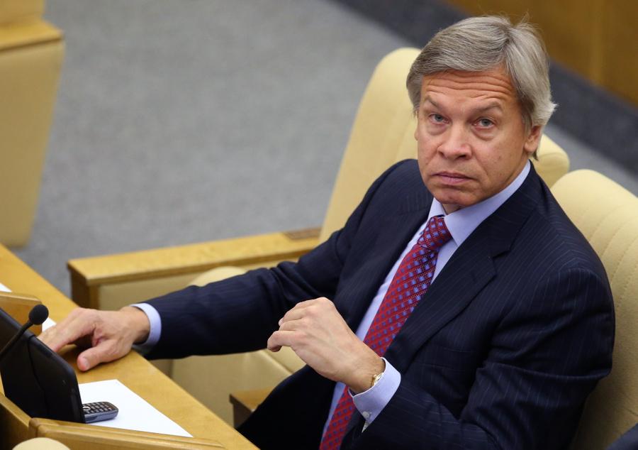 <p>Сенатор Алексей Пушков. Фото © ТАСС / Новодережкин Антон</p>