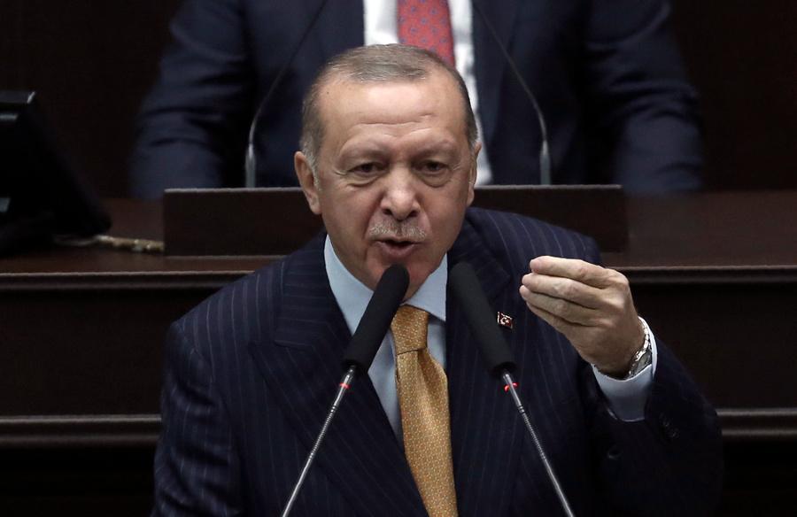 <p>Президент Турции Реджеп Тайип Эрдоган. Фото © ТАСС / АР</p>
