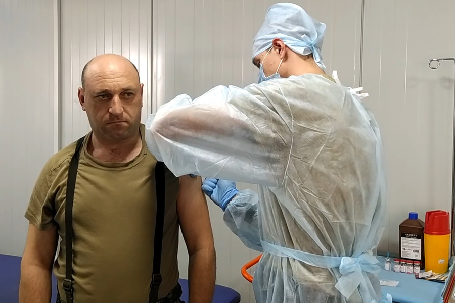 <p>Вакцинация в Азербайджане. Фото © ТАСС / Сайт Минобороны РФ</p>