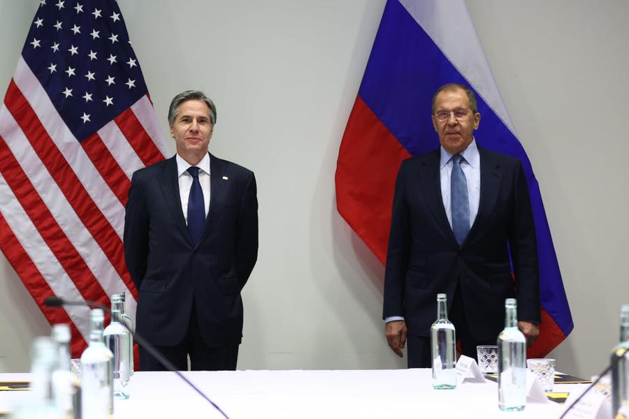 <p>Глава МИД РФ Сергей Лавров и госсекретарь США Энтони Блинкен. Фото © МИД России</p>