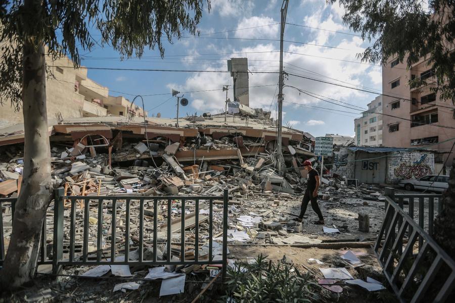 <p>Последствия авиаударов Израиля по сектору Газа. Фото © ТАСС / dpa</p>