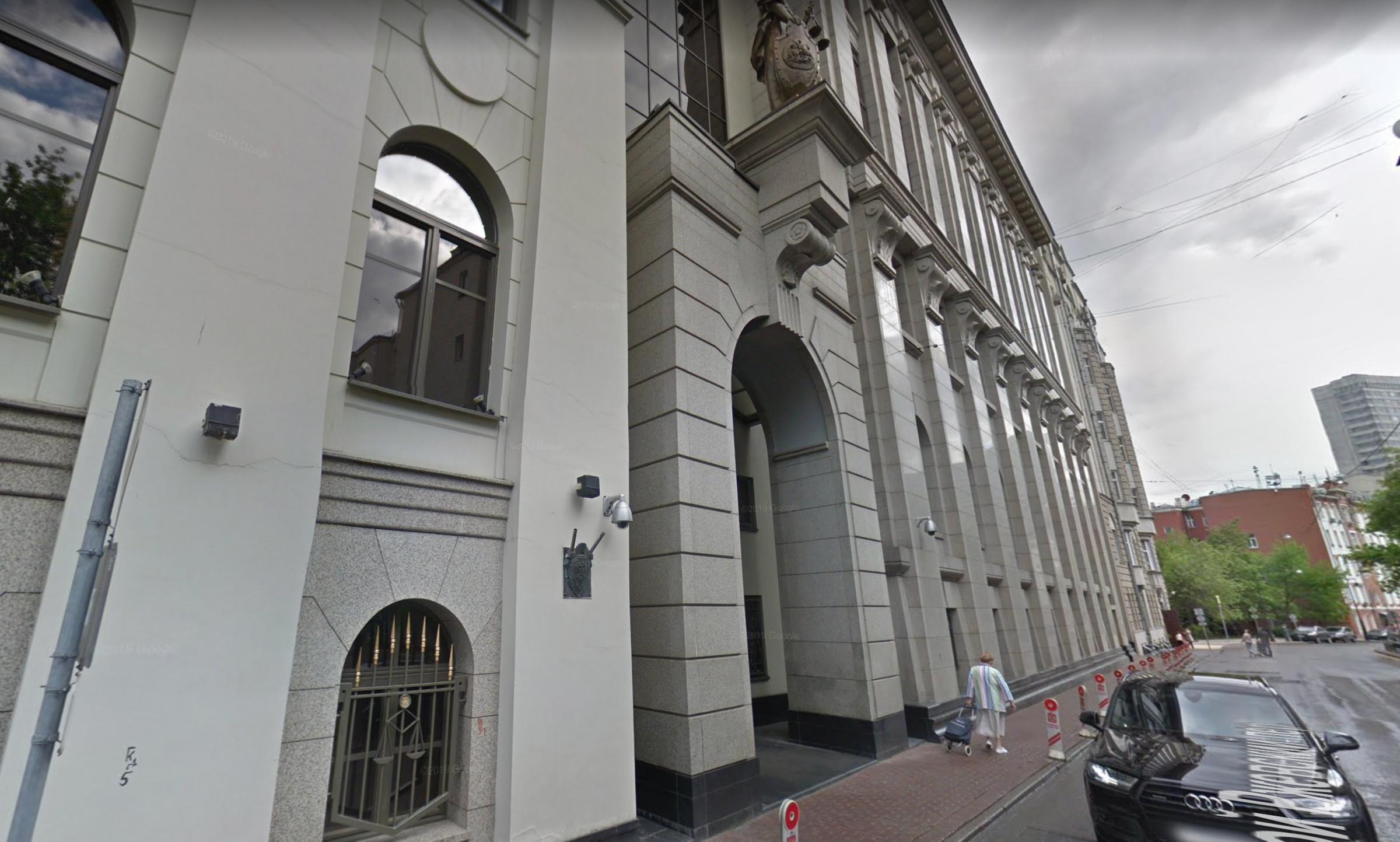 Тело Аллы Пронькиной нашли возле Верховного суда. Фото ©google maps