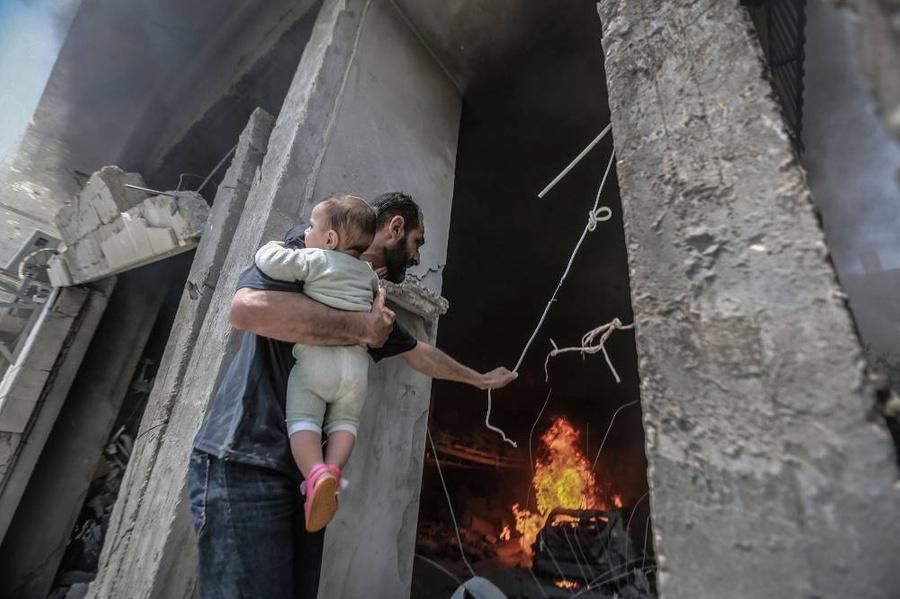 <p>Последствия авиаударов Израиля по сектору Газа. Фото © ТАСС/dpa</p>