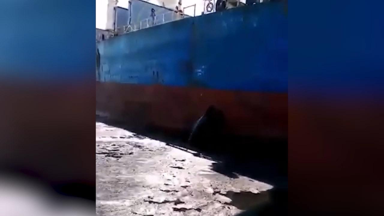 Вот это мы приехали!: у Сахалина российское судно пробило борт китайскому