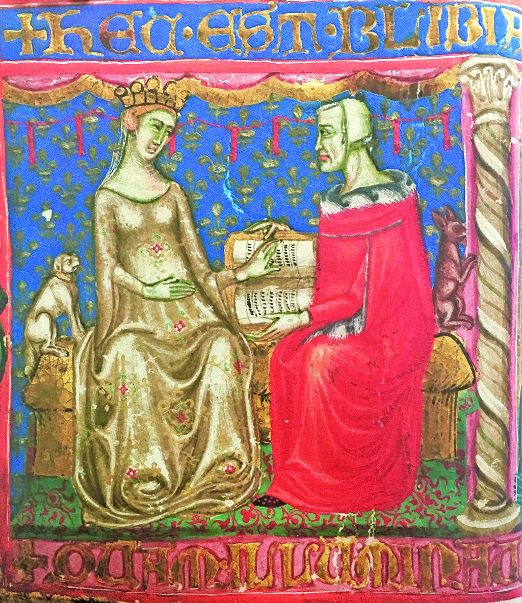 Джованна I со своим дедом королём Робертом Мудрым. Фото © Wikipedia