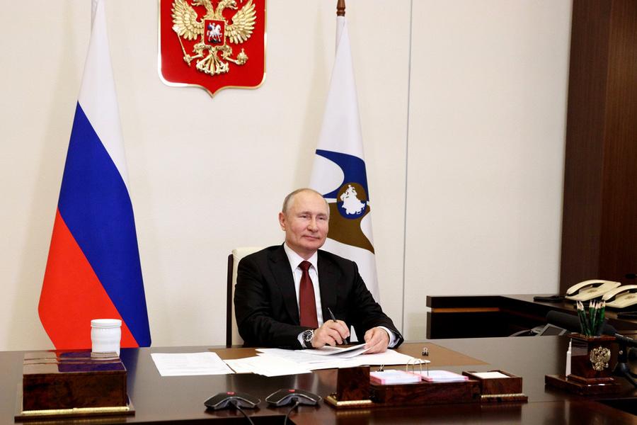 <p>Фото © ТАСС / Сергей Ильин / Пресс-служба Президента РФ</p>