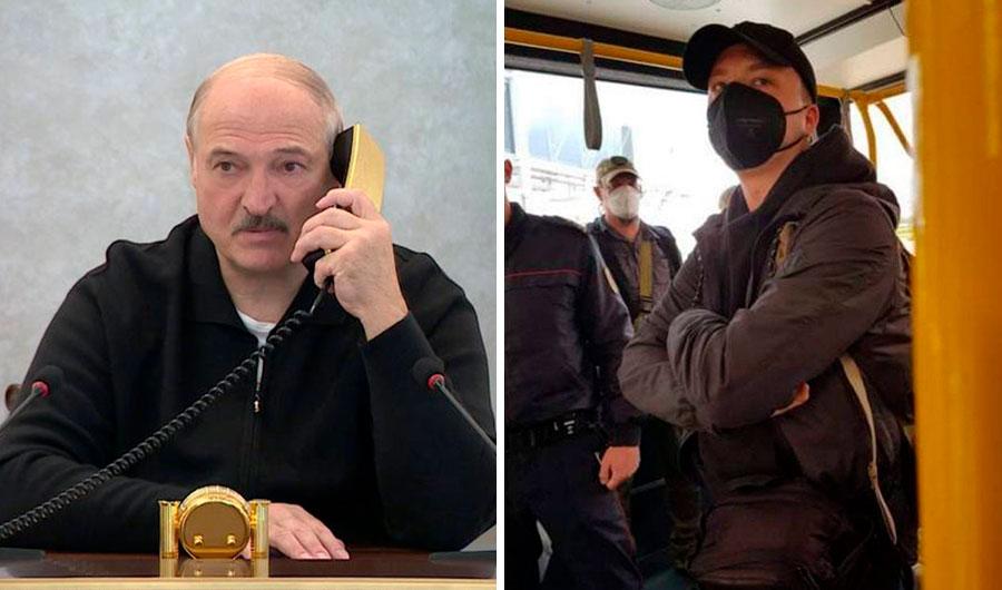 <p>Президент Белоруссии Александр Лукашенко, Роман Протасевич. Коллаж © LIFE. Фото © ТАСС / БелТА / NEXTA</p>