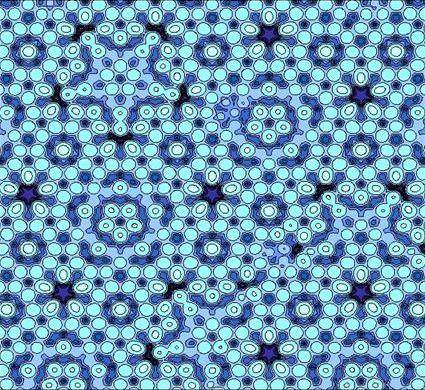 Модель квазикристалла, состоящего из атомов алюминия, магния и палладия. Фото © wikipedia