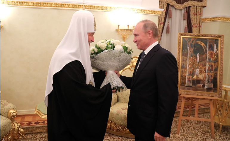 <p>Президент РФ Владимир Путин и патриарх Кирилл. Фото ©Kremlin</p>