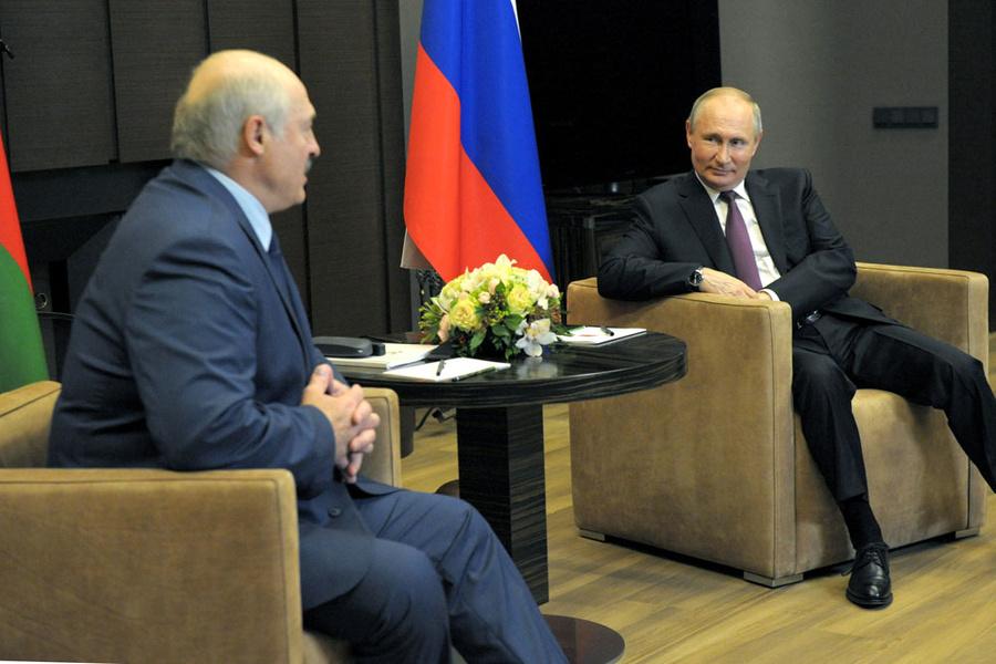 <p>Александр Лукашенко и Владимир Путин. Фото ©ТАСС / Климентьев Михаил</p>