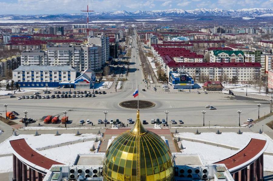 <p>Виды Южно-Сахалинска. Фото © ТАСС / Сергей Красноухов</p>