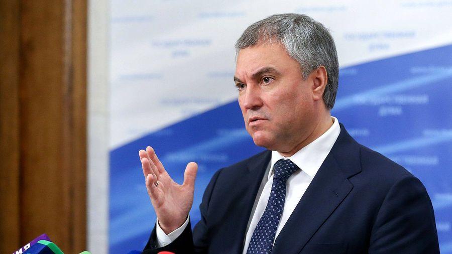 <p>Председатель Государственной думы Вячеслав Володин. Фото © ГД</p>