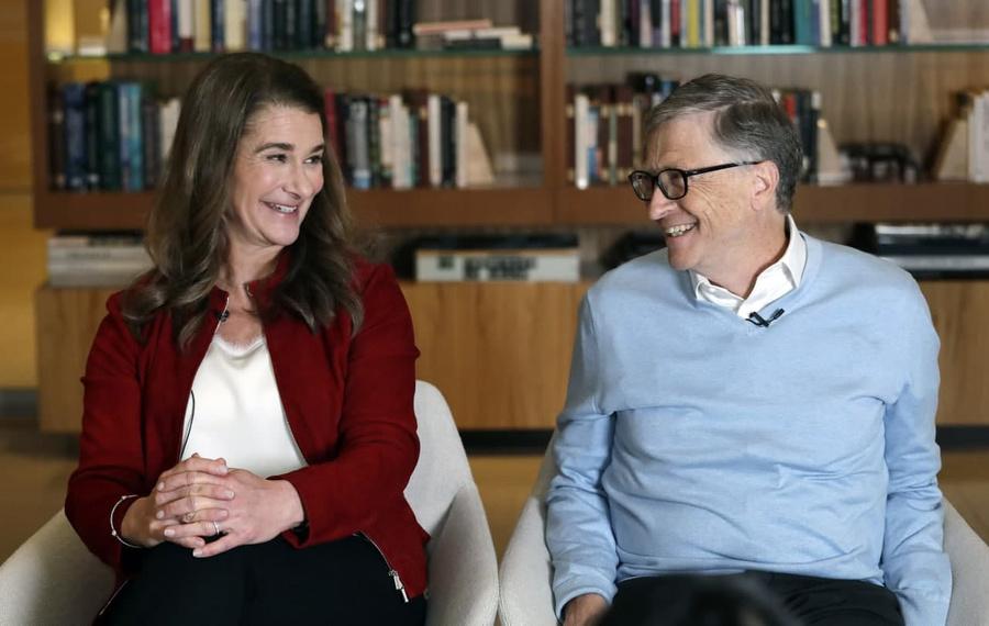 <p>Билл и Мелинда Гейтс. Фото © ТАСС / AP Photo / Elaine Thompson</p>