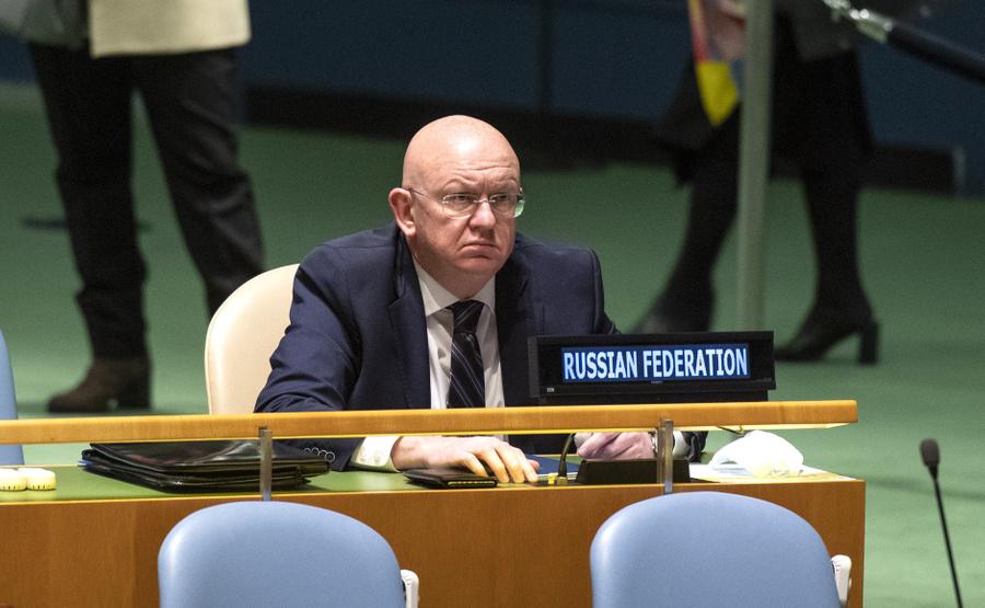<p>Постпред РФ при ООН Василий Небензя. Фото © ООН / Эскиндер Дебебе</p>