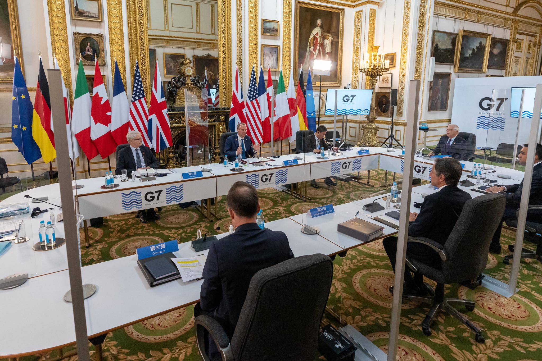 Россию на встрече G7 в Лондоне обсуждали полтора часа