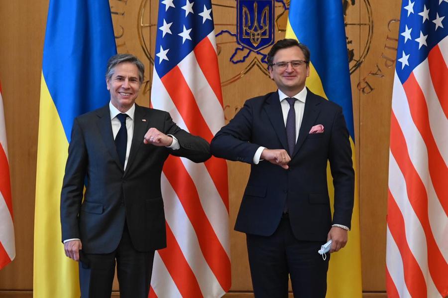 <p>Глава МИД Украины Дмитрий Кулеба и госсекретарь США Энтони Блинкен. Фото © МИД Украины</p>