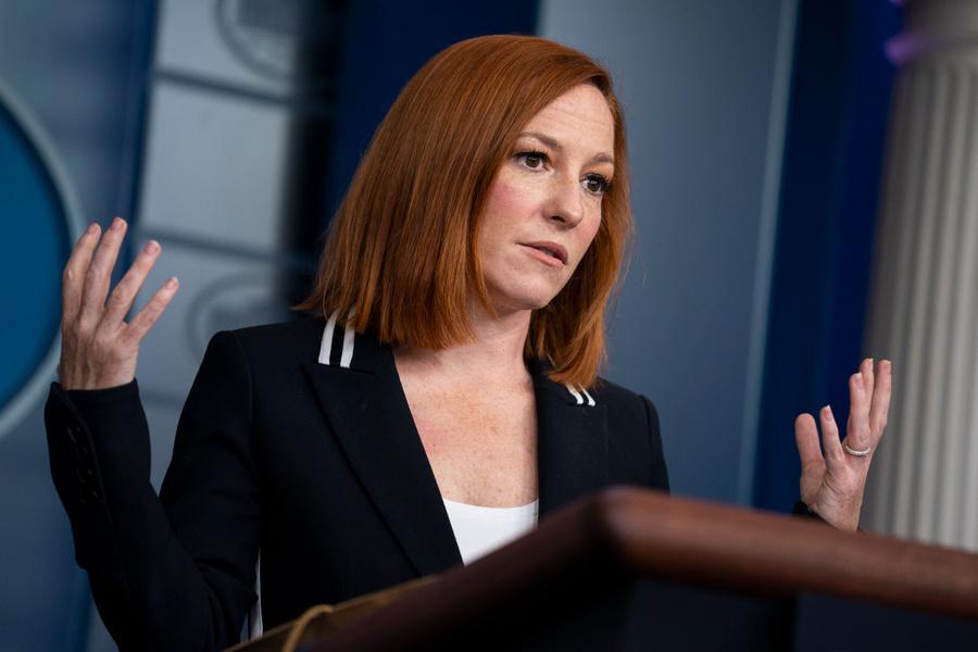 <p>Пресс-секретарь Белого дома Джен Псаки. Фото © ТАСС / АР </p>