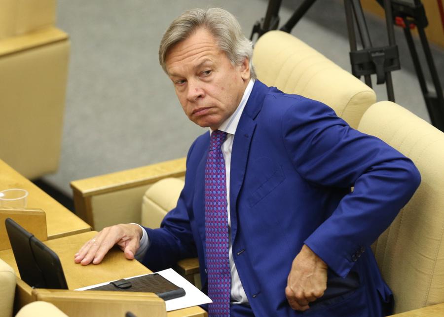 <p>Сенатор Алексей Пушков. Фото © ТАСС / Коротаев Артём</p>