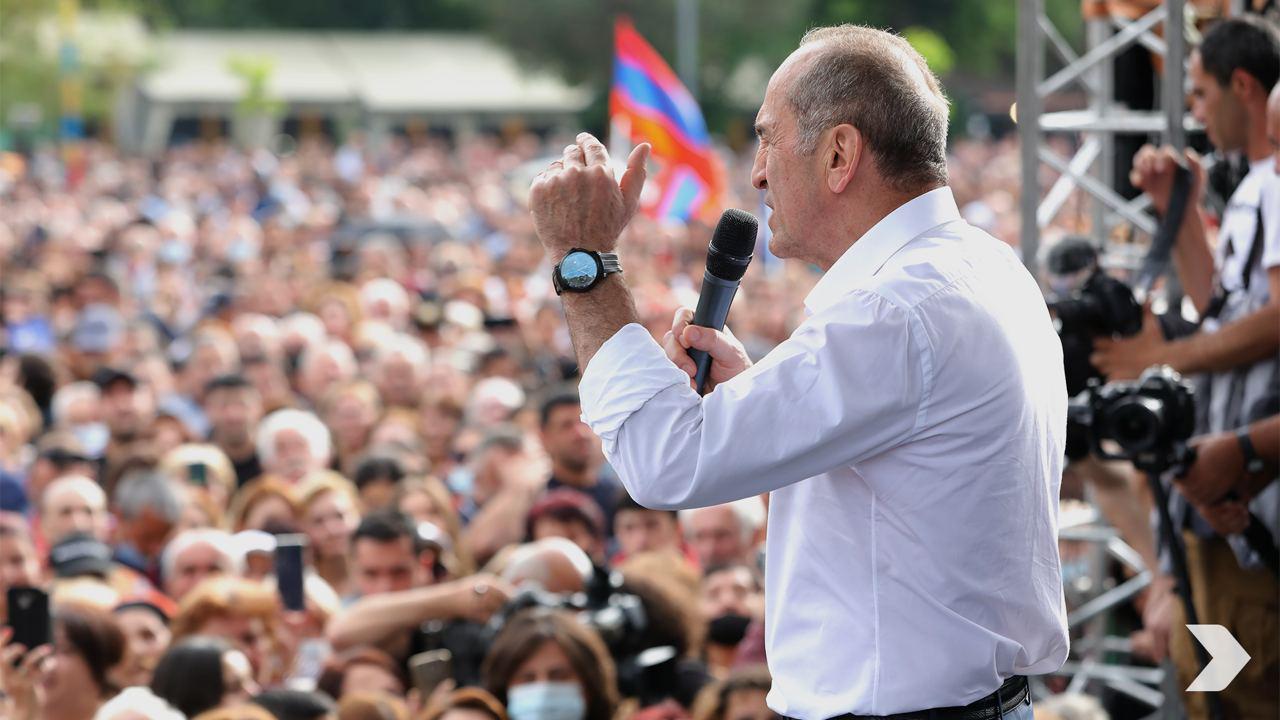 """Экс-президент Армении Роберт Кочарян. Фото © Телеграм-канал """"Альянс Армении"""""""
