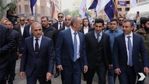 "Экс-президент Армении Роберт Кочарян (в центре). Фото © Телеграм-канал ""Альянс Армении"""