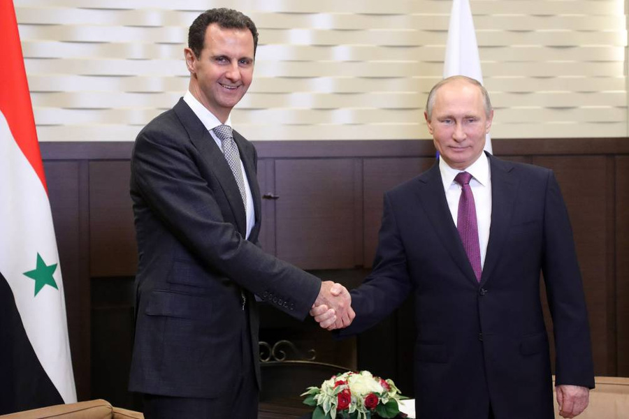 <p>Президент РФ Владимир Путин и президент Сирии Башар Асад. Фото © ТАСС / Михаил Климентьев</p>