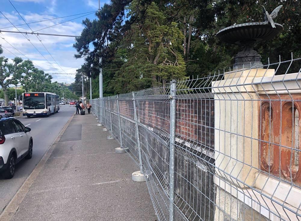 Место саммита Путина и Байдена в Женеве обнесли колючей проволокой