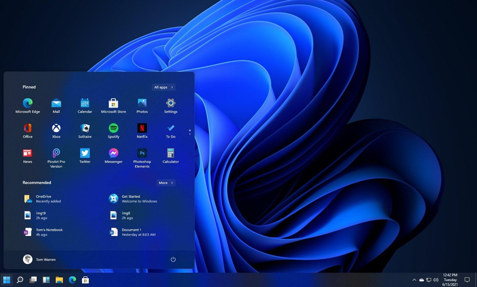 Дизайн новой операционной системы Windows 11. Фото © baidu