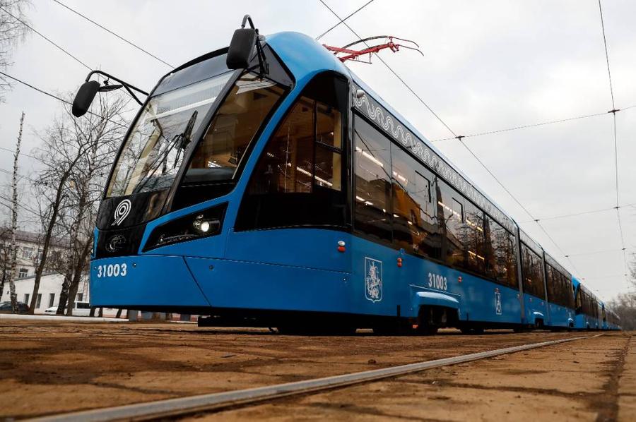 """Трамвай """"Витязь-М"""". Фото © ТАСС / Артём Геодакян"""