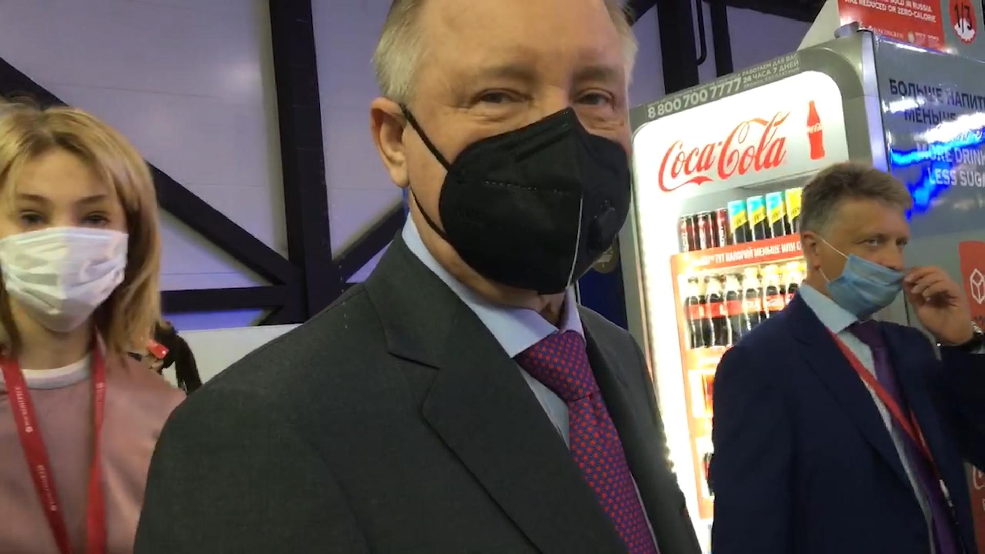 Создали зону безопасности от ковида, и это самое главное: Губернатор Петербурга Беглов оценил противокоронавирусные меры на ПМЭФ