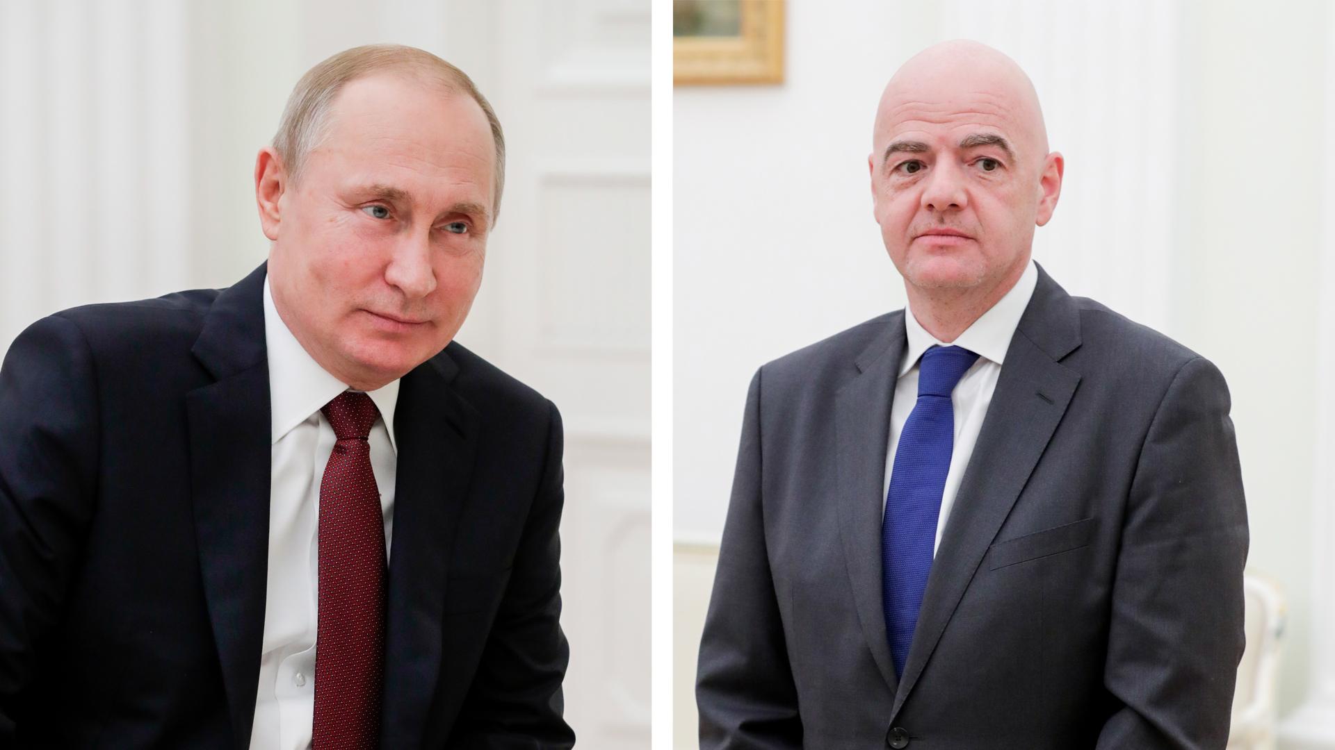 Путин 21 июня встретится с президентом ФИФА Инфантино