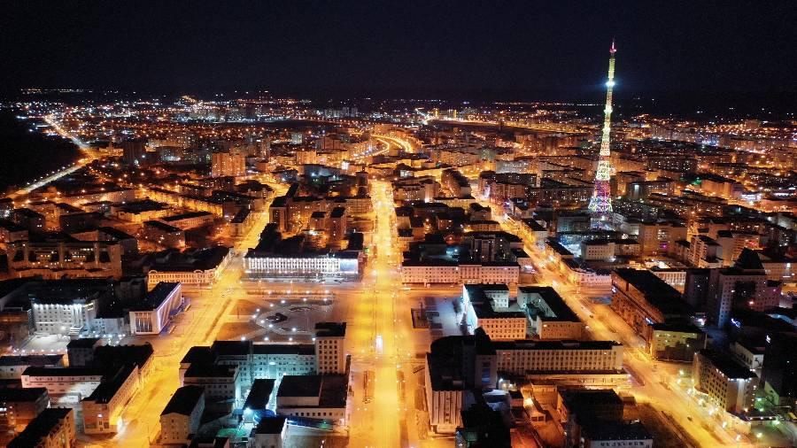 <p>Якутск ночью. Фото © ТАСС / Гаврил Старостин</p>