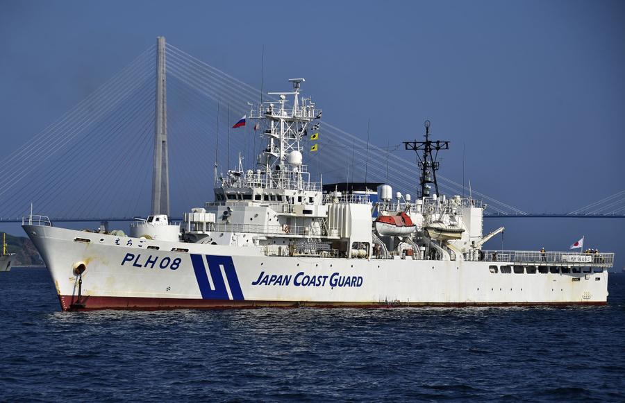 <p>Корабль береговой охраны Японии. Фото © ТАСС / Юрий Смитюк</p>