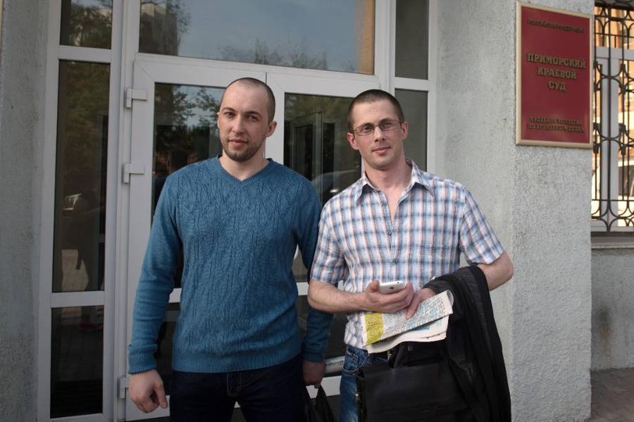"""Никитин и Ковтун из банды """"приморских партизан"""". Фото © ТАСС / Михаил Метцель"""