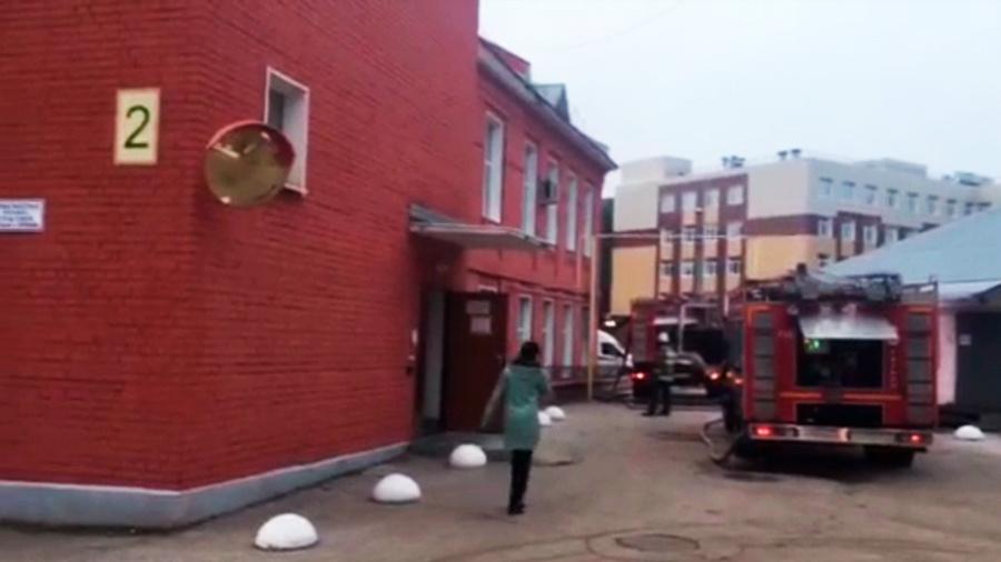 <p>Кадр из видео © ГУ МЧС по Рязанской области</p>