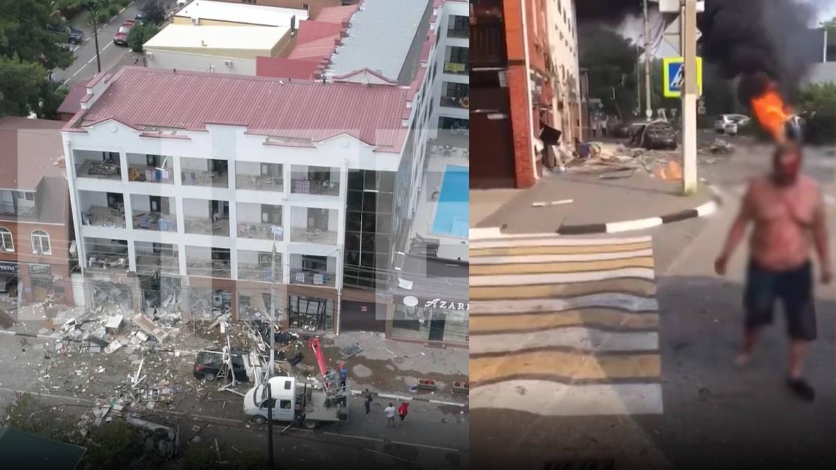 """1498298068913.8074 """"Человек в огне"""": Трагические видео из Геленджика, где взрыв бытового газа разрушил всё вокруг"""