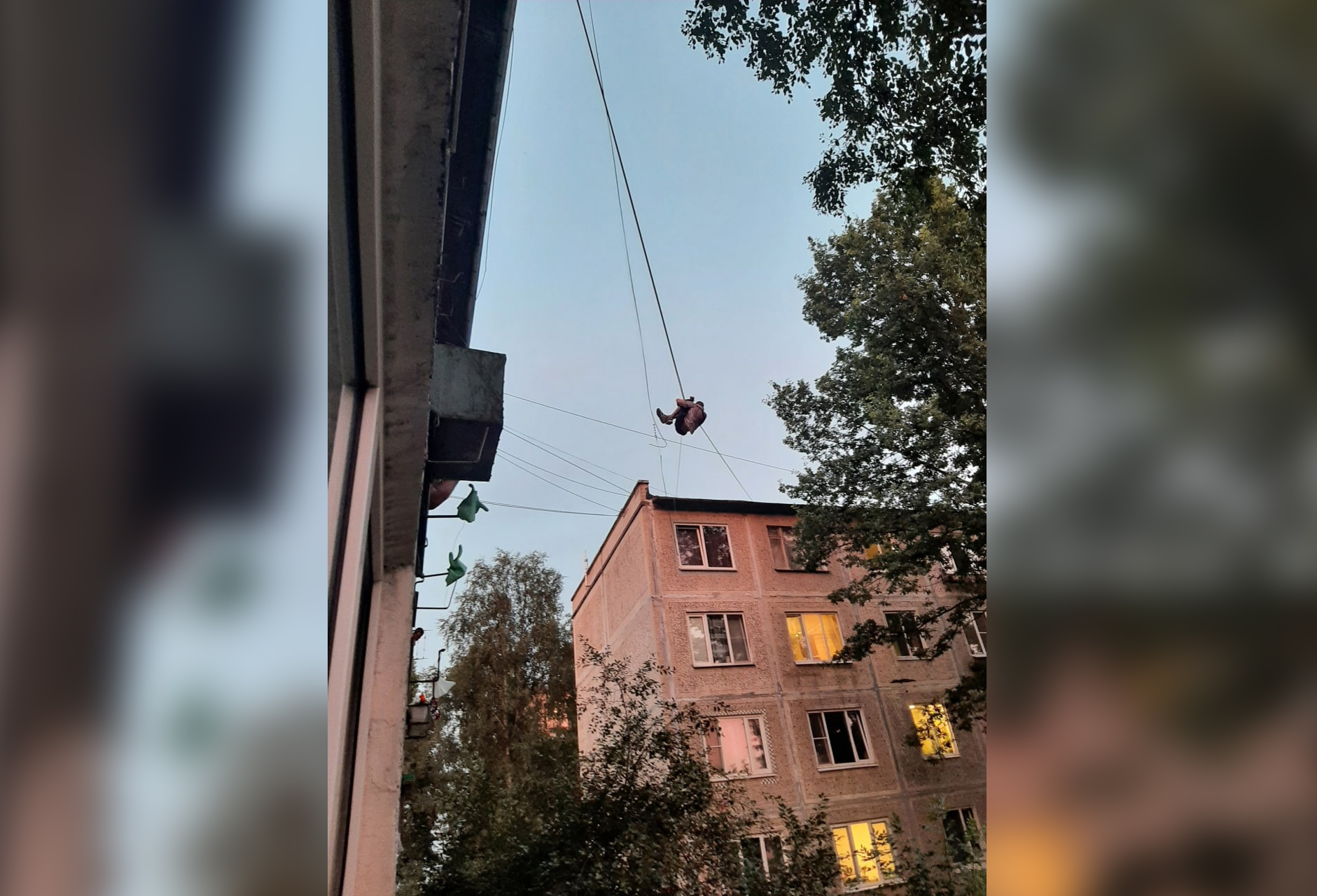 В Питере человек-паук под наркотиками завис на проводах